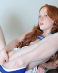 Lucy In Denim Miniskirt Gets Nude On Piano - Picture 13
