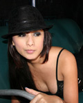 Cute Latin Hottie In Sexy Black Dress - Picture 9